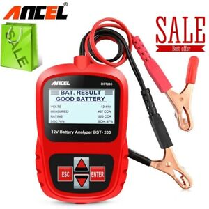 12V Car Battery Tester Digital Battery Analyzer Car Battery Tool Digital Tool