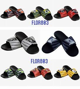 7a9a4bc3774 NFL Football Team Men's Legacy Shower Sport Slide Flip Flop Sandals ...