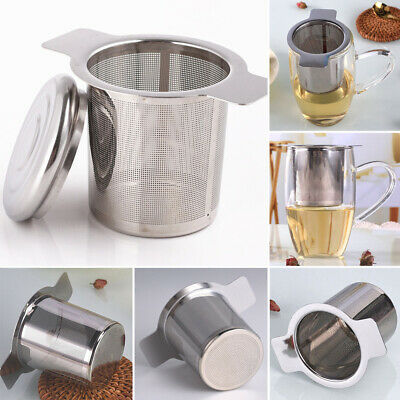 Practical Stainless Steel Mesh Tea Infuser With Lid Strainer Loose Leaf Filter