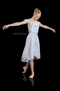 4b4da79efe73 TO ORDER Bliss Light Blue Lyrical Balle Dress Sequin Girls Ladies ...
