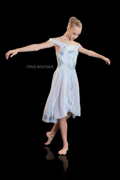 A Pedido Bliss Luz Azul Vestido Lentejuelas Lírico Balas Niñas Damas Traje De Baile-ver