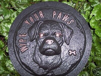 Boxer rottweiler stepping stone mold