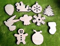 Wooden Christmas decoration for crafts, tree ornaments, gift tags, blank shapes