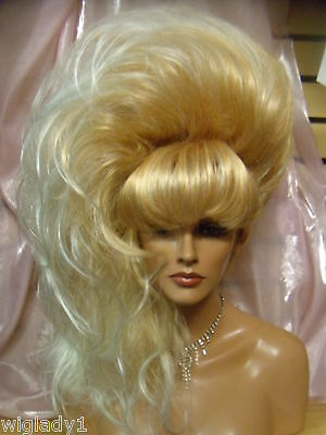 SIN CITY WIGS LOVELY SIDE DO BIG SEXY VOLUMINOUS HAIR SO HOT & GLAMOROUS BANGS!