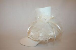 Girls Ivory Nylon /& Lace Flower Girl Socks with Ivory Satin Bows