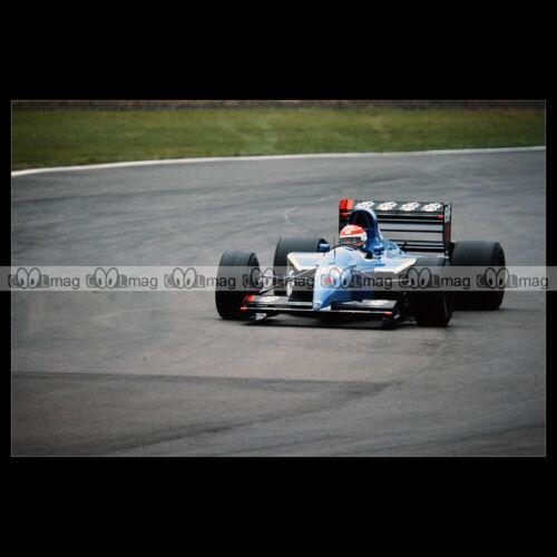 #pha.025904 Photo ERIK COMAS LIGIER JS35 GRAND PRIX F1 SILVERSTONE 1991 Car Auto
