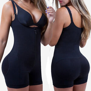 24258988c Women s Full Body Shaper Waist Cincher Underbust Corset Bodysuit ...