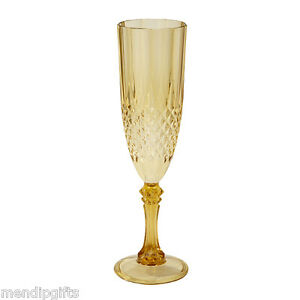Image Is Loading Set 4 Gold Plastic Champagne Flutes Wedding Hen