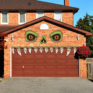 CCINEE-Halloween-Monster-Face-Outdoor-Decoration-with-Eyes-Fangs-Nostril-Garage