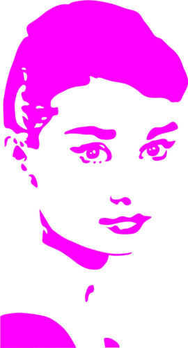 Audrey Hepburn Aufkleber Wandtattoo Sticker Heckscheibe Auto Spiegel