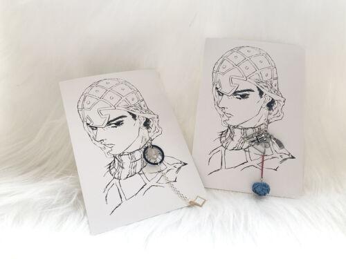 Details about  /JoJo/'s Bizarre Adventure Golden Wind GUIDO MISTA Sex earring Stud Earrings Cos