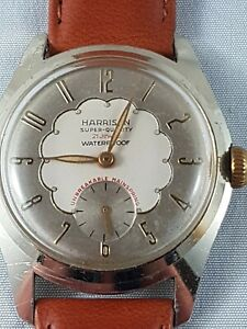 Harrison-vintage-Cortobert-Dial-and-movement-Watch-collector-watch-working