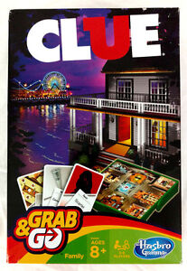 Clue-Board-Game-Hasbro-Classic-Grab-amp-Go-Family-Party-Kids-Adults-Travel-Gift