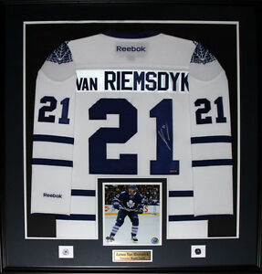 huge inventory 637b6 b95a1 Details about James Van Riemsdyk Toronto Maple Leafs Signed white jersey  NHL Hockey Frame