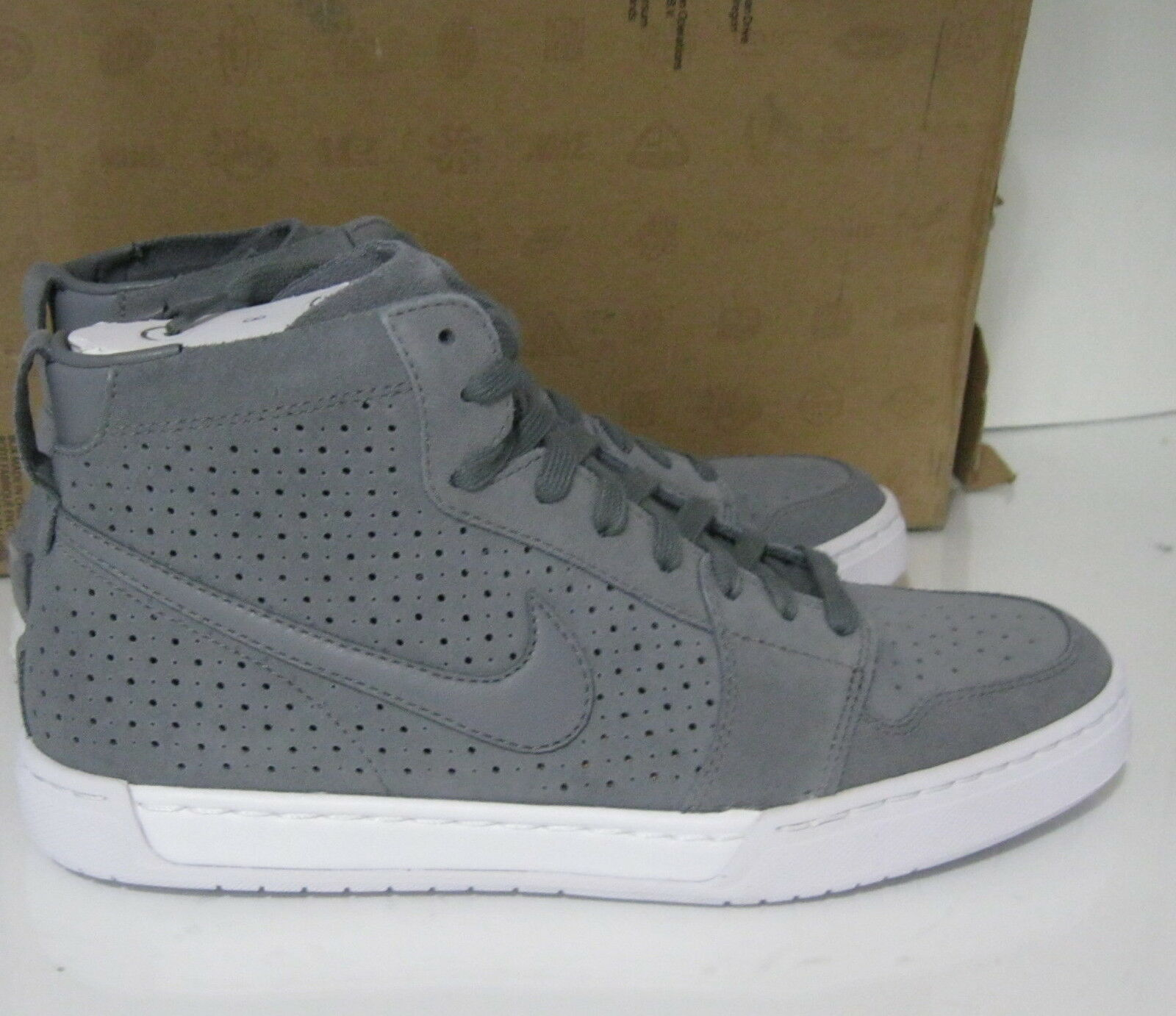 new Nike Air Royal Mid Lite Grey 434493-008 Grays, Medium Athletic Size 8