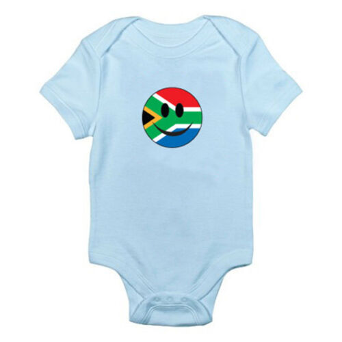 South African SOUTH AFRICA FLAG SMILEY FACE Novelty Themed Baby Grow//Romper