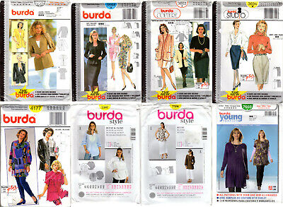 Burda Sewing Pattern 6727 Misses Jacket Coat Contemporary Style Womens Fabric