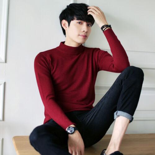Para hombres Calce Ajustado Informal suéter géneros de punto de cuello redondo de punto Jersey Tops Cuello Redondo