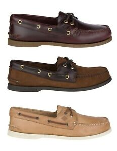 Sperry-Top-Sider-Authentic-Original-Men-039-s-Leather-Boat-Shoes-A-O