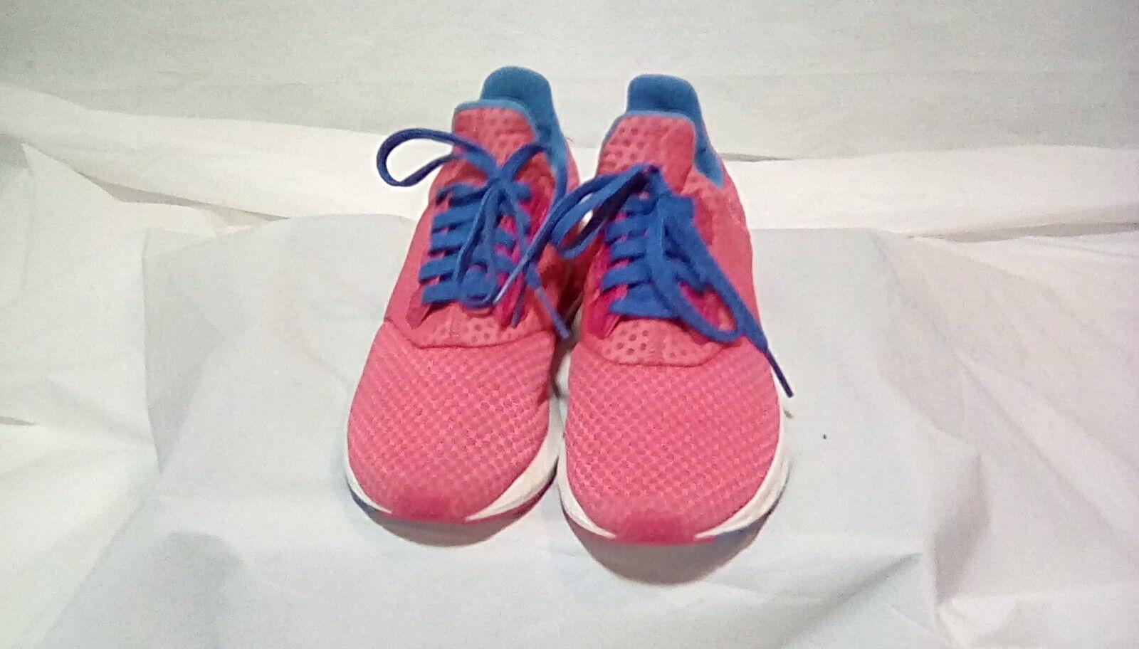 Adidas-Chaussures de course Cloudfoam Mesh rose / bleu / blanc pour femme-Taille 5