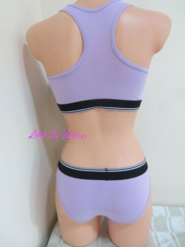 Details about  /IVANS Lilac 3 Pack Exercise Cotton Rich Bralette Thong Bikini Knickers Size XXL
