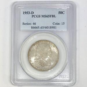 1953-D-Franklin-Half-Dollar-PCGS-MS65FBL-Rev-Tye-039-s-898178