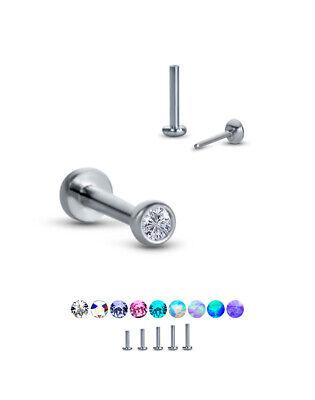 20g 18g Purple TITANIUM THREADLESS Push Pin Jewelry~ Custom Length Metal Sensitive Cartilage Forward Helix Tragus Nose Lobe Earring ~1 Stud