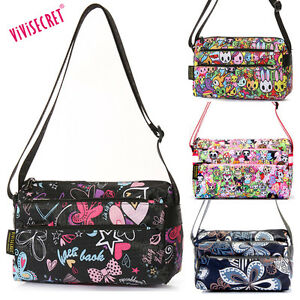 cfd27a1a8162 Details about Women Small Nylon Handbag Cartoon Crossbody Messenger Bag  Tote purse For Girls