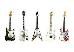 jimi hendrix 39 s guitars poster print a1 size ebay. Black Bedroom Furniture Sets. Home Design Ideas