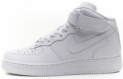 Nike Air Force 1 Mid Leather White Trainers 315123 111