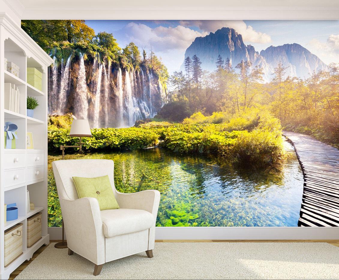 3D Sky Mountain Lake 718 Wallpaper Mural Paper Wall Print Wallpaper Murals UK