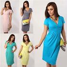 Pregnant Women Maternity V Neck Short Sleeve Casual Dress Summer Dresses