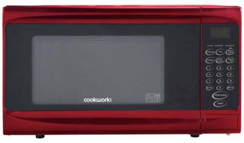 Cookworks 700 W Standard Micro-ondes P70B-Rouge n/'est pas compliqué Boutons /_ UK