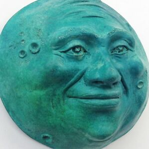 Turquoise-Full-Moon-Sculpture-Handcrafted-Hand-Painted-Claybraven-Original