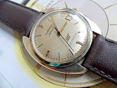 Vintage 1960's Men's Longines Ultrachron Automatic 10k G/F Swiss Watch Runs