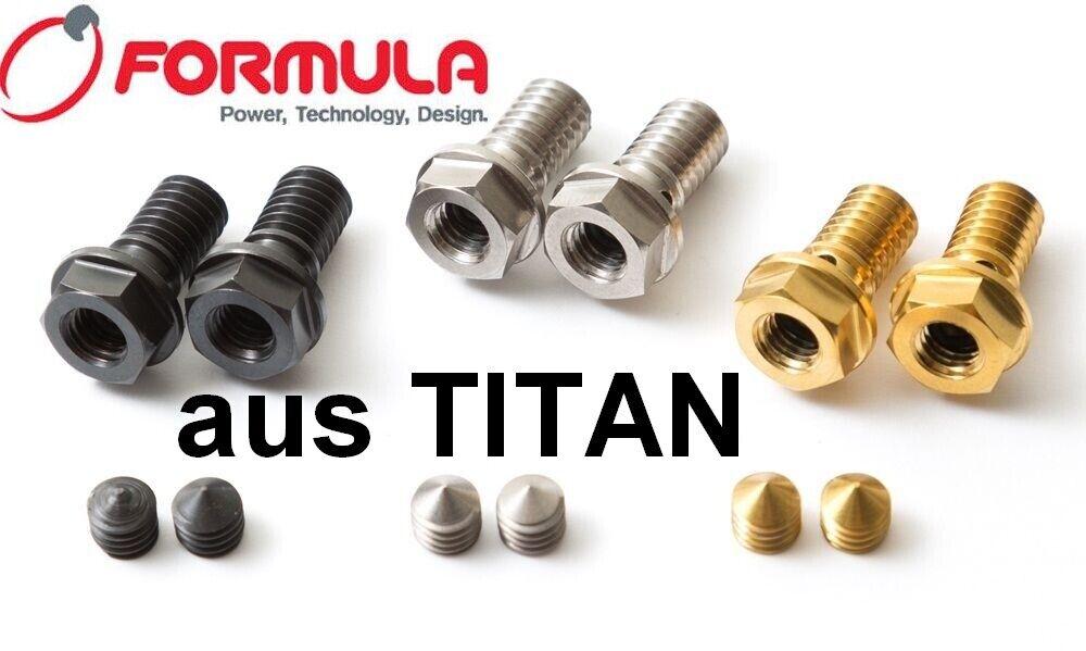4 Farben zur Auswahl! 43/% leichter 2 Entlüftungsschrauben aus TITAN FORMULA