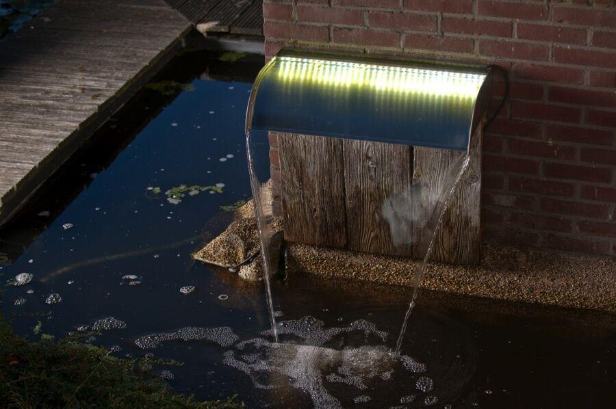 Ubbink Nevada 30 R Inox LED Wasserfall Bachlauf Gartenbrunnen Zierbrunnen