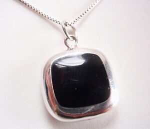 Reversible-Black-Onyx-and-Mother-of-Pearl-925-Sterling-Silver-Square-Necklace