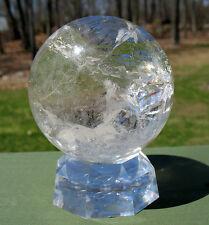 Quartz Sphere / Crystal Ball w Rainbows