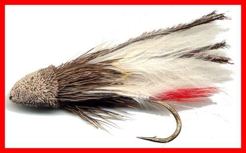 White Marabou margoulin Fly Fishing Flies-Douze des mouches dans la taille de votre choix