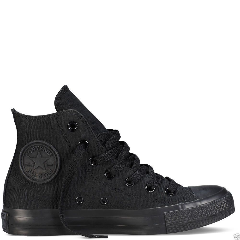 CONVERSE ALL Zapatos STAR HI TOPS CANVAS PUMPS TRAINERS Zapatos ALL SNEAKERS Negro MONO 481ca9