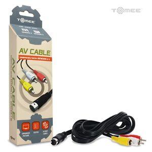 Sega-Genesis-Model-2-AV-Cable-RCA-Composite-Audio-Video-A-V-Cord-Brand-New-6ft