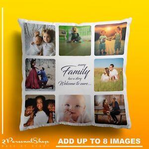 Personalised-Photo-Pillowcase-Cushion-Pillow-Insert-Custom-Present-Up-to-8-pics