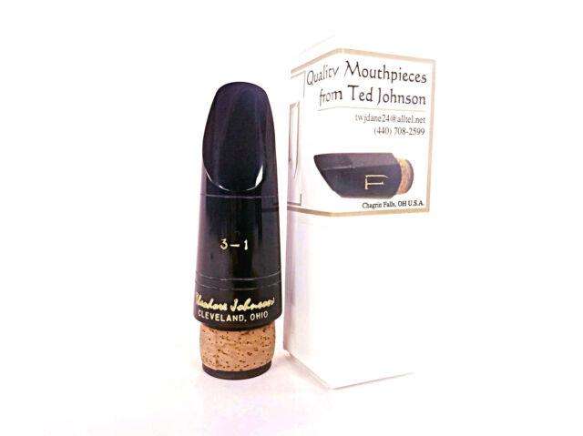 Theodore Ted Johnson TJ3- Zinner Ebonite Bb Clarinet Mouthpiece BRAND NEW