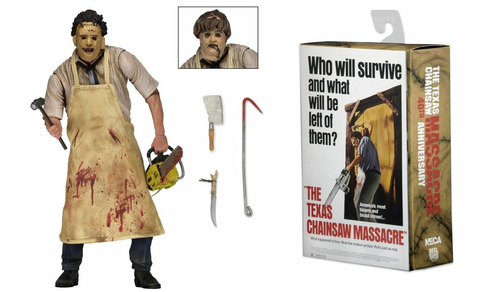 Die texas chainsaw massacre leatherface ultimative figura 18cm neca