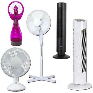 Image Is Loading Pedestal Oscillating Stand Fan Desk Fans Electric Tower