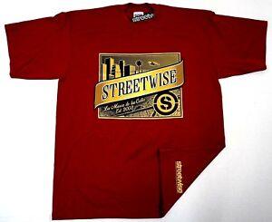 STREETWISE-OSCURA-T-shirt-Streetwear-Tee-Men-L-4XL-Burgundy-NWT