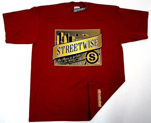 STREETWISE OSCURA T-shirt Streetwear Tee Men L-4XL Burgundy NWT