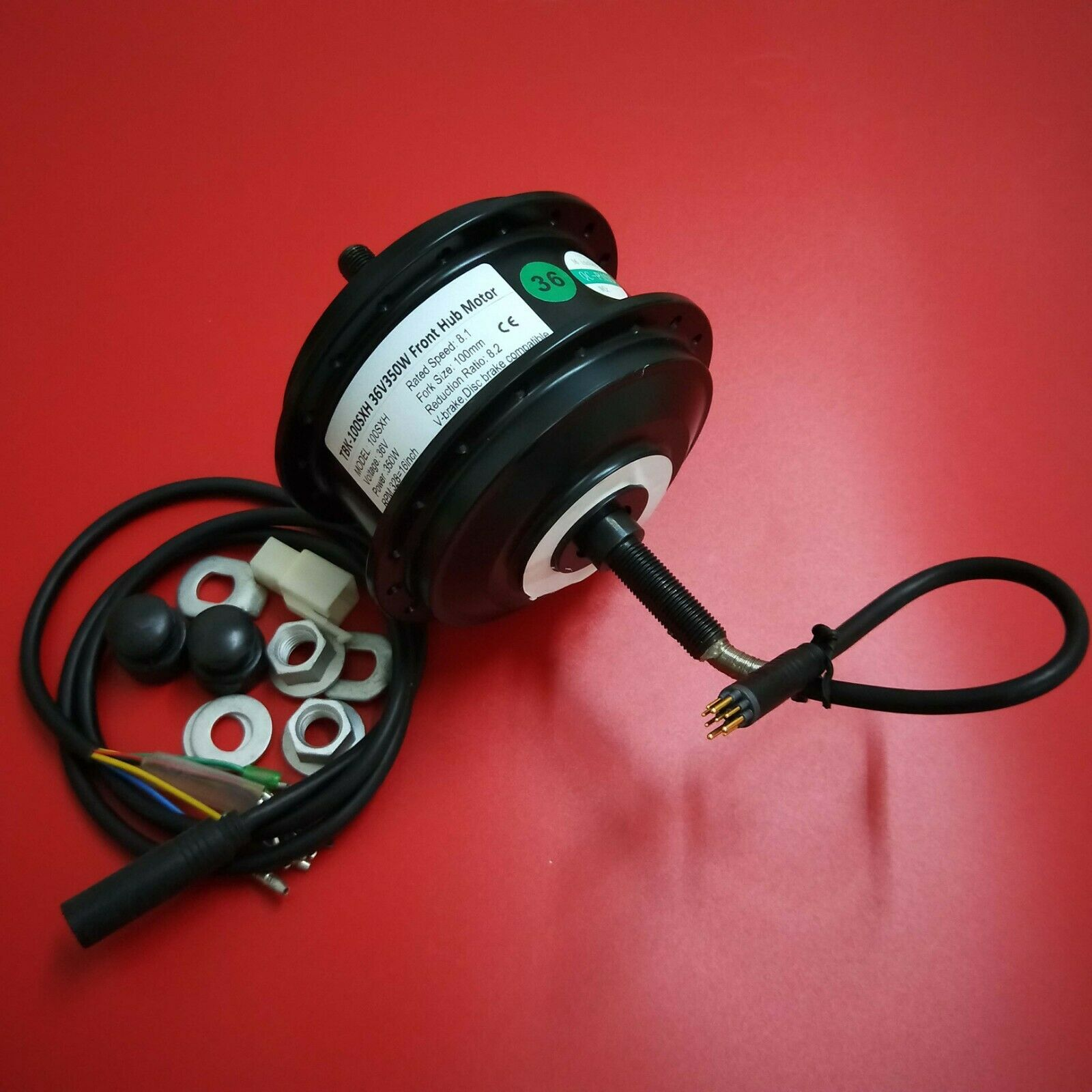 Ebike 36V 350W hub motor  AKM-100H 36V 350W front motor  fork size-100mm