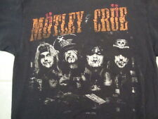 Motley Crue Glam Metal Rock Band Concert Tour Fan Black Cotton T Shirt Size L